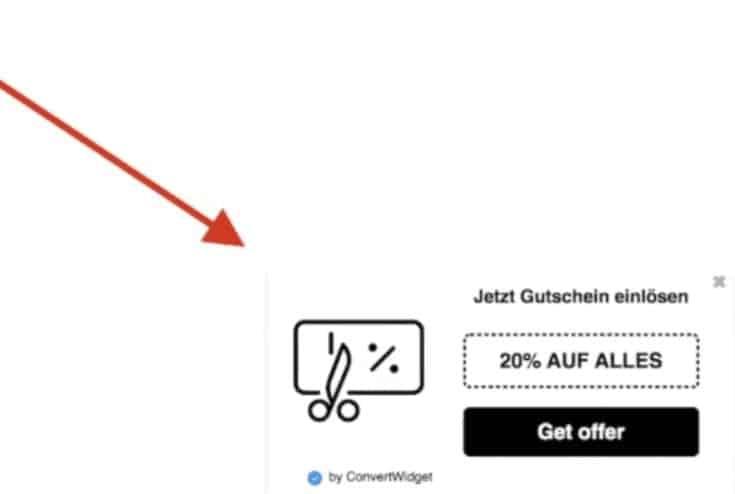 Convertwidget Position Webseite
