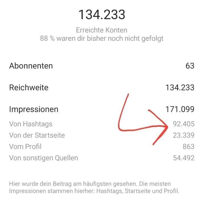 Instagram Hashtags Ergebnisse