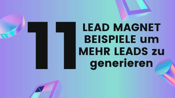 11 Lead Magnet Beispiele, um MEHR Leads generieren zu können