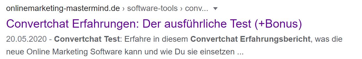 Google Suche Convertchat