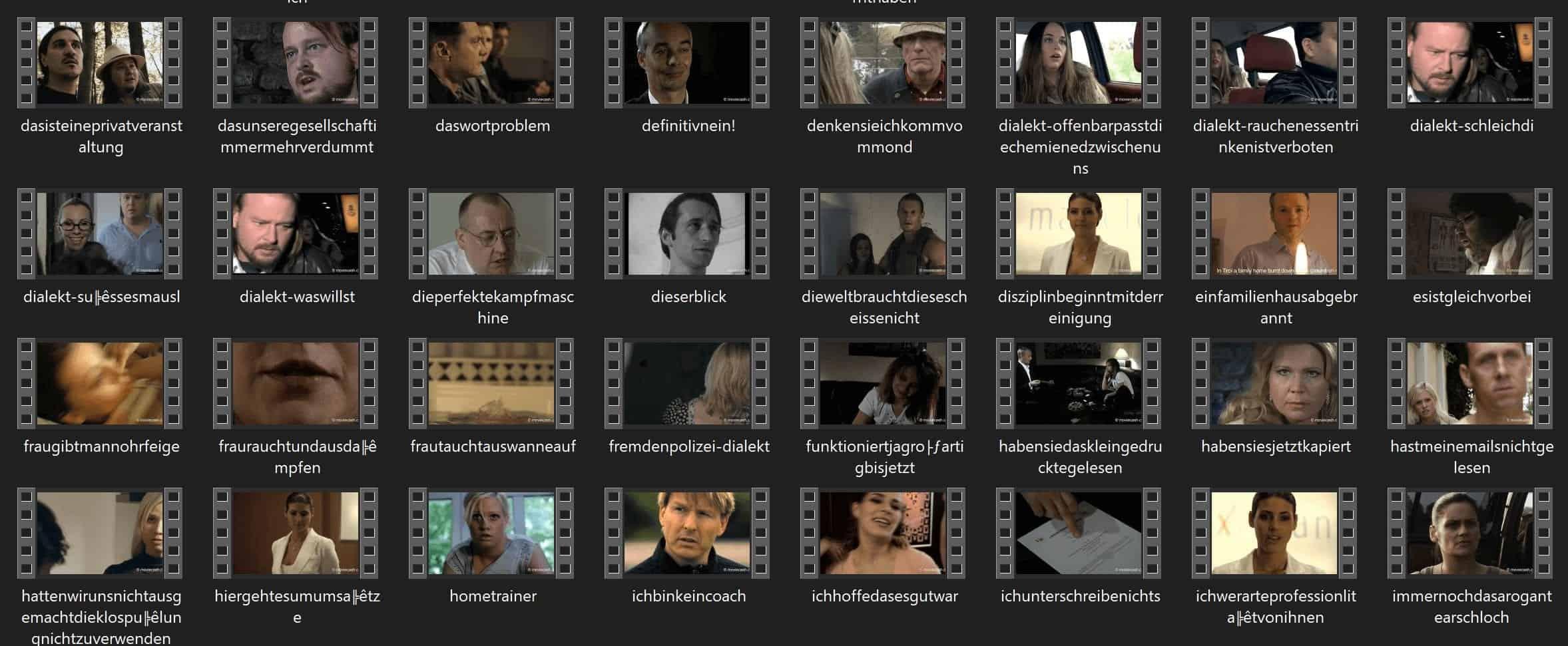 Moviecash Filmausschnitte Ordner