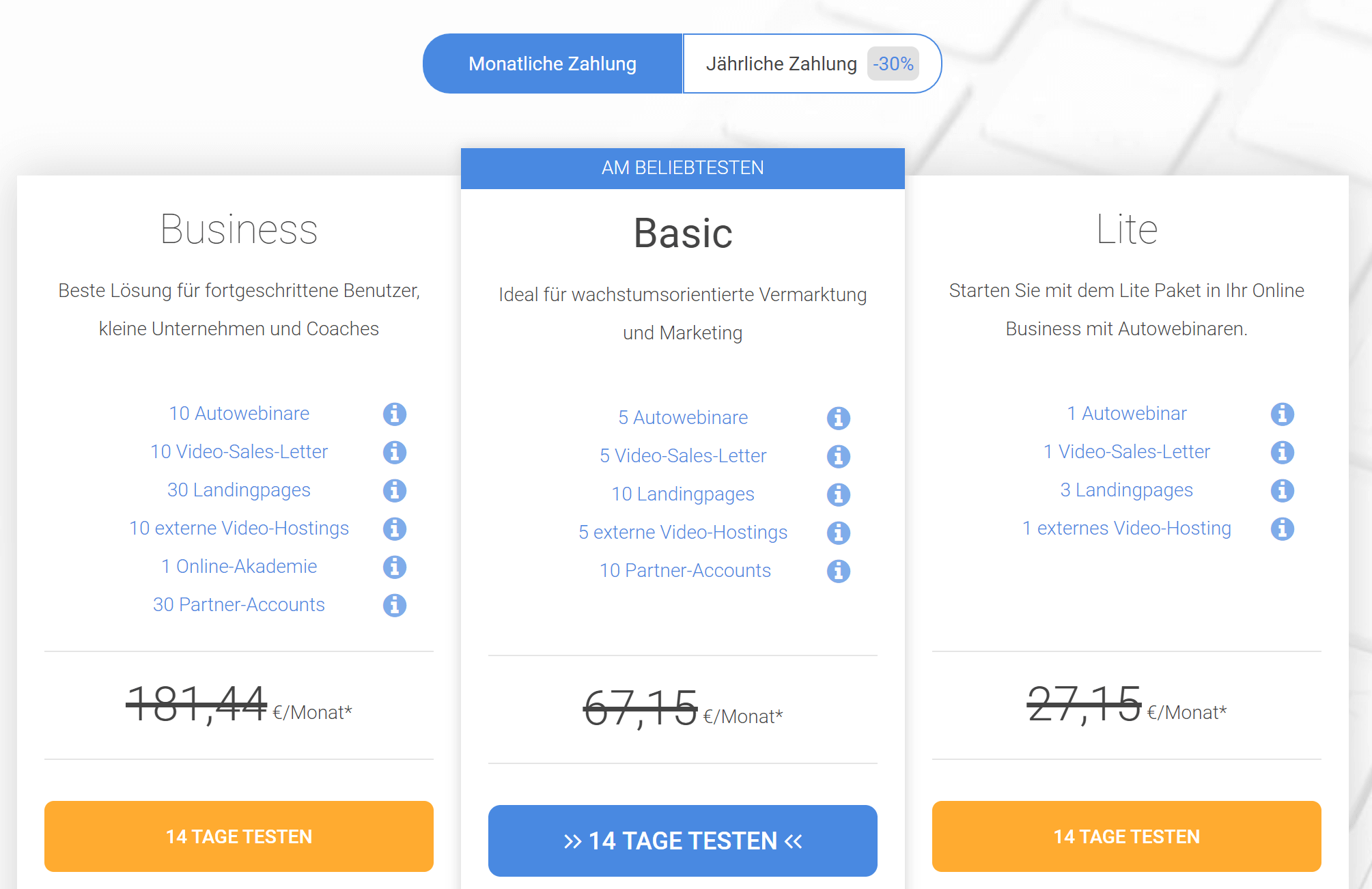 Imparare Preise