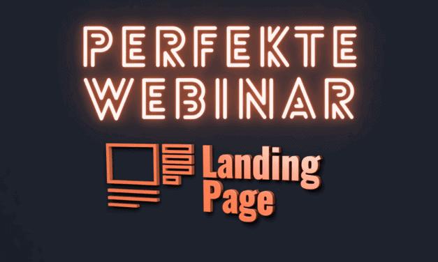 5 Tipps um eine PERFEKTE Webinar Landing Page zu erstellen