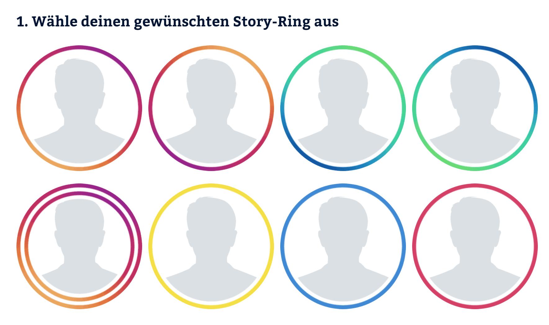 Instagram Profilbild erstellen mit doppelten Story Ringen