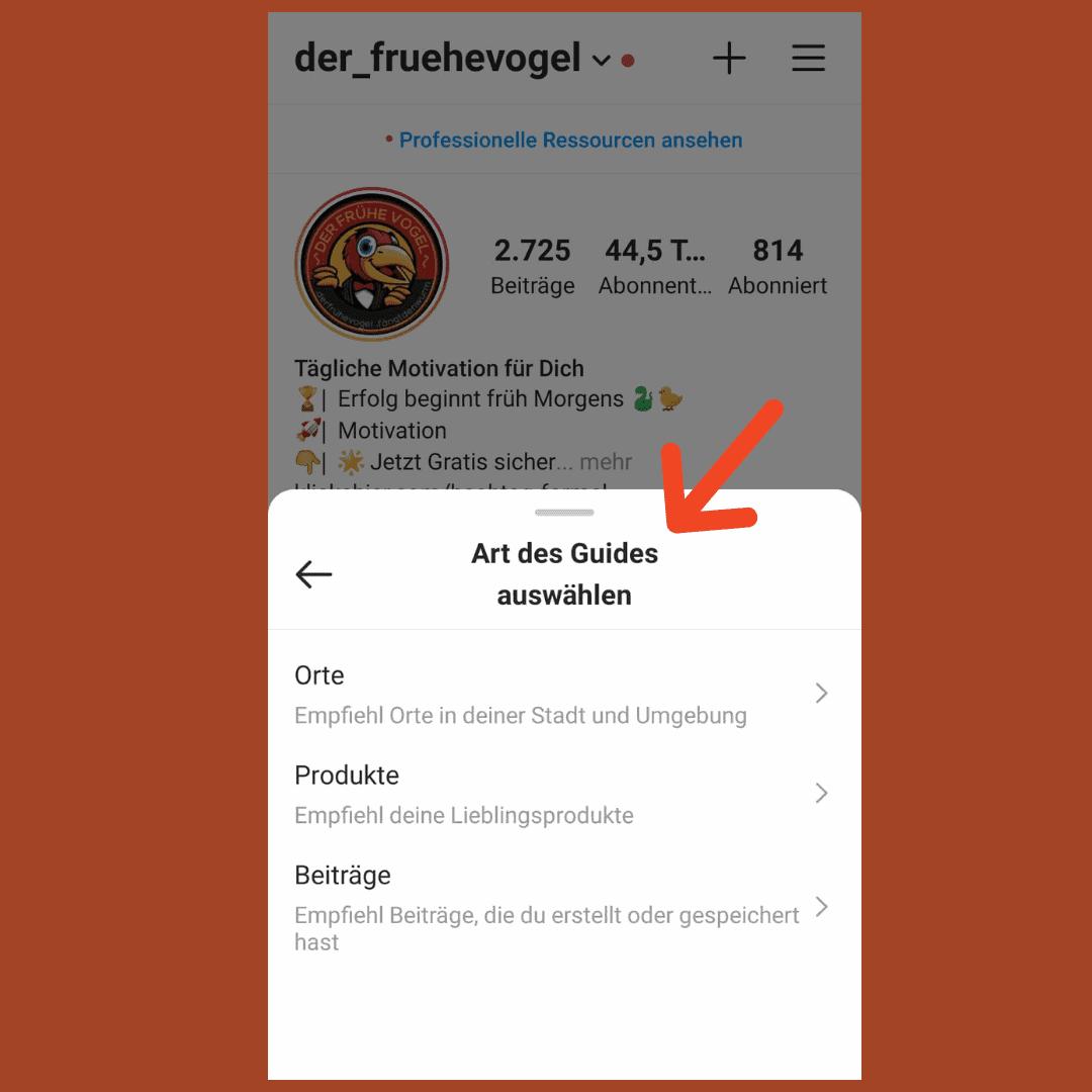Instagram Guides Erstellen Inhalt Anleitung