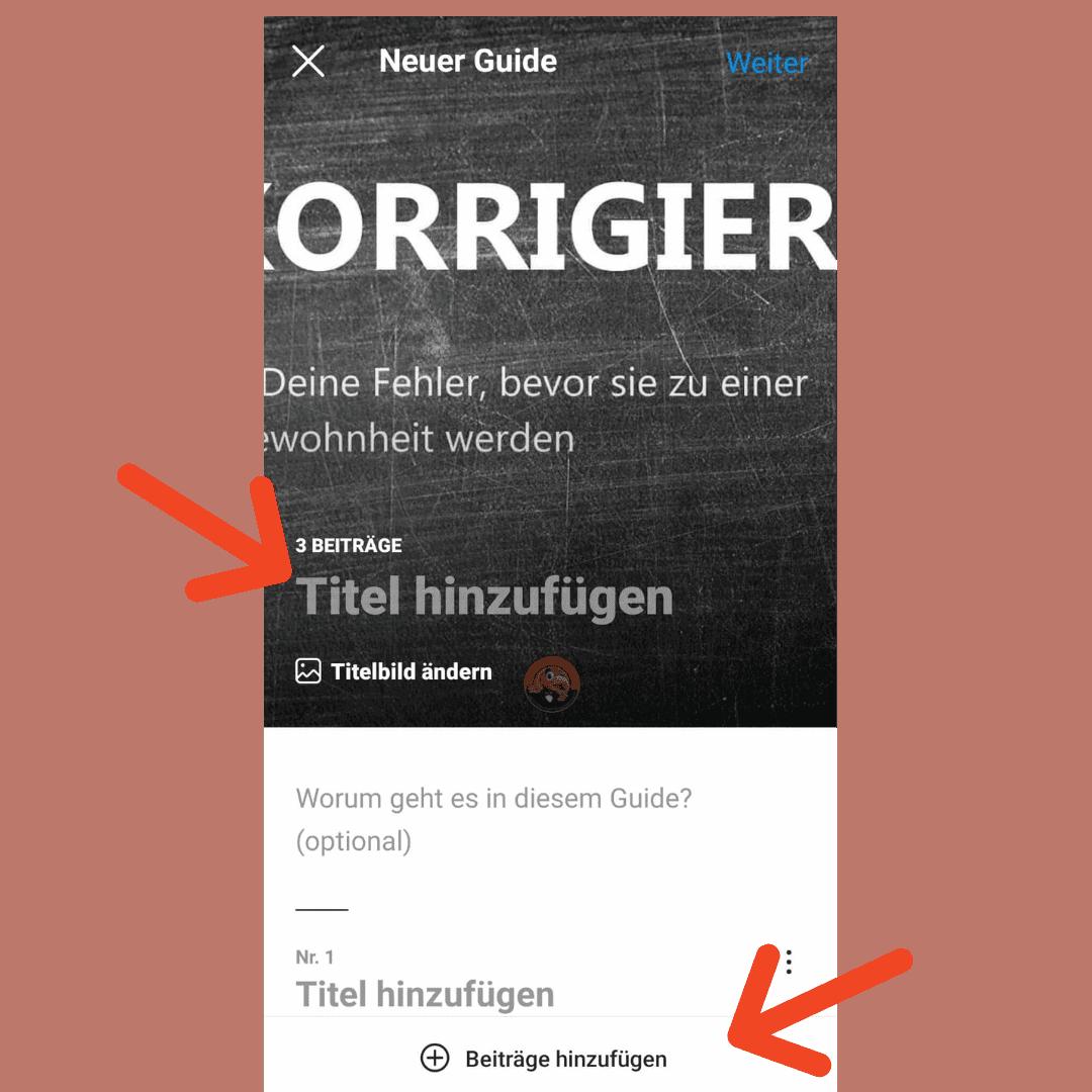 Instagram Guides Erstellen Title