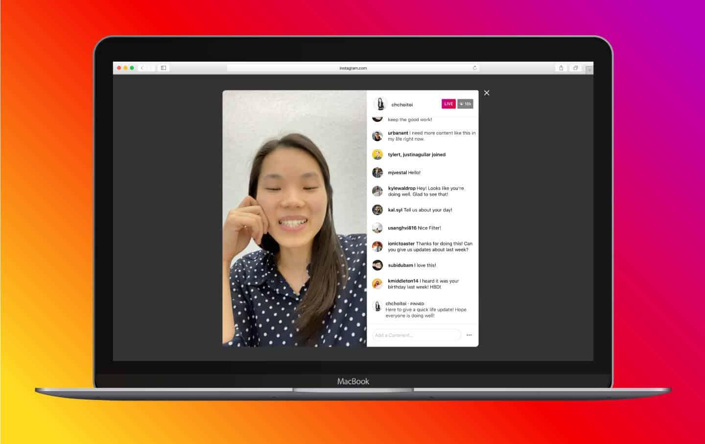 Instagram Live auf PC Desktop ansehen