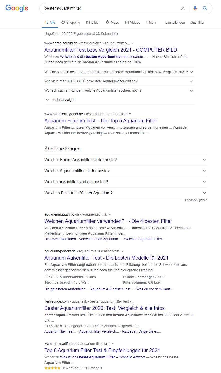Keyword Recherche Search Intent