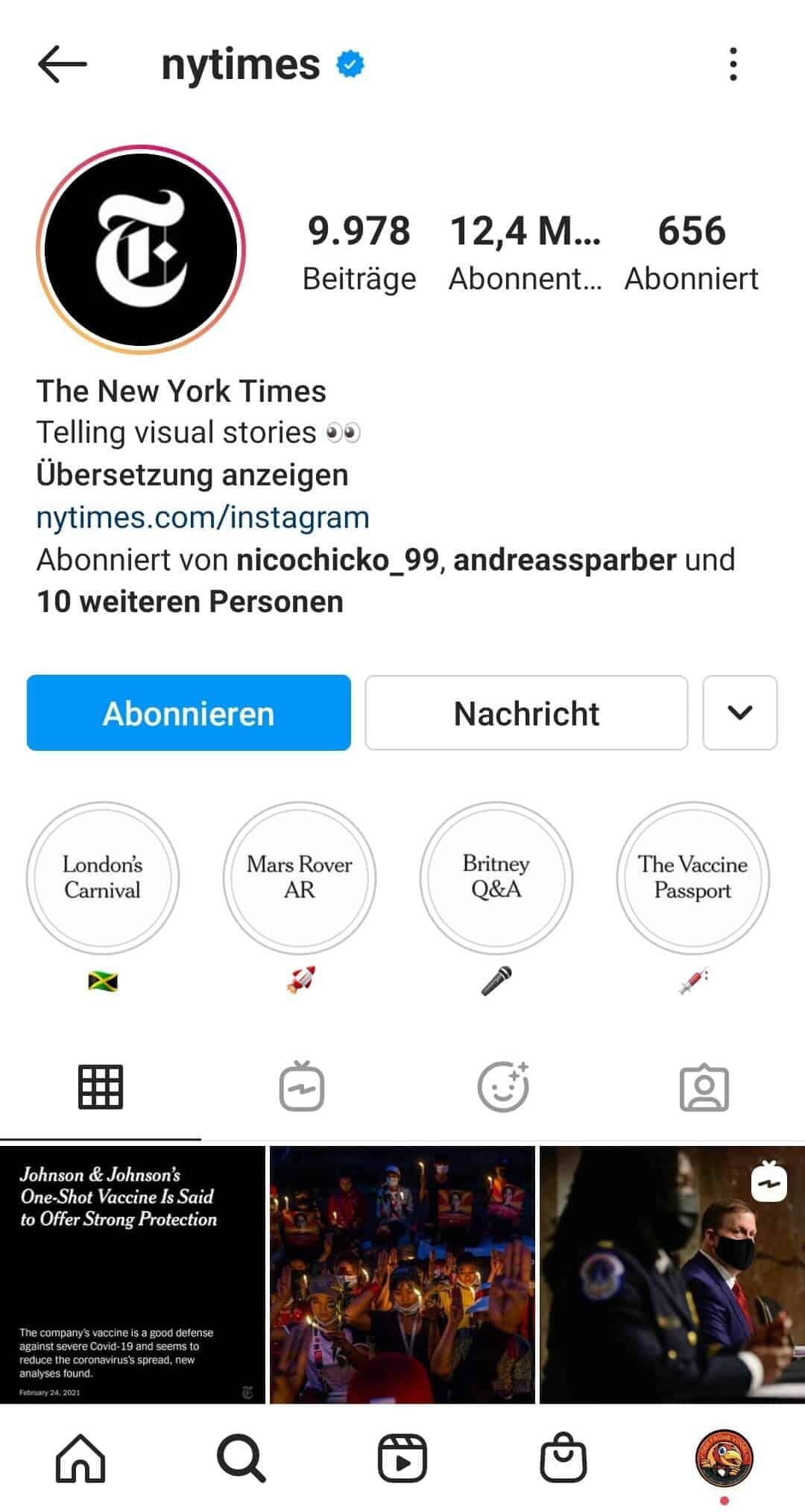 Instagram Stories Highlight Cover erstellen Beispiel