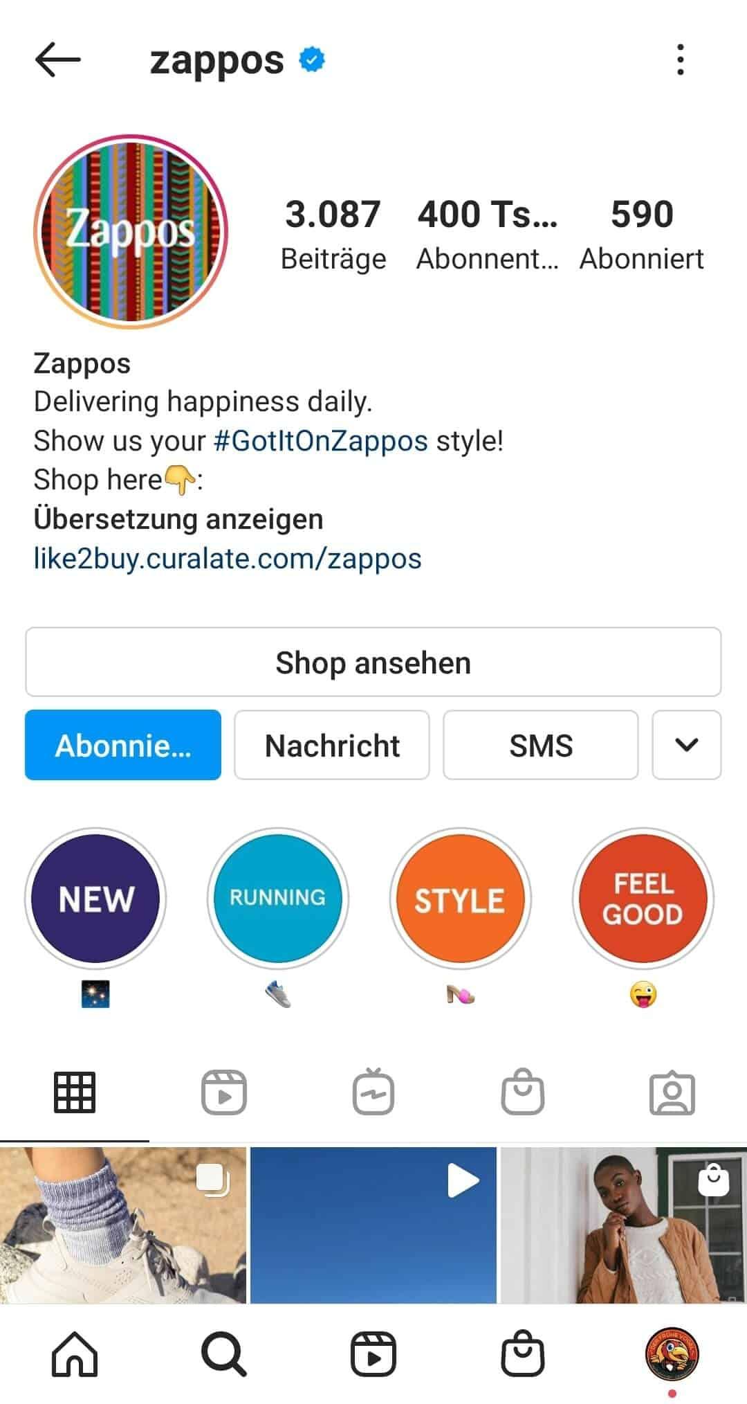 Instagram Stories Highlights Cover erstellen Beispiel