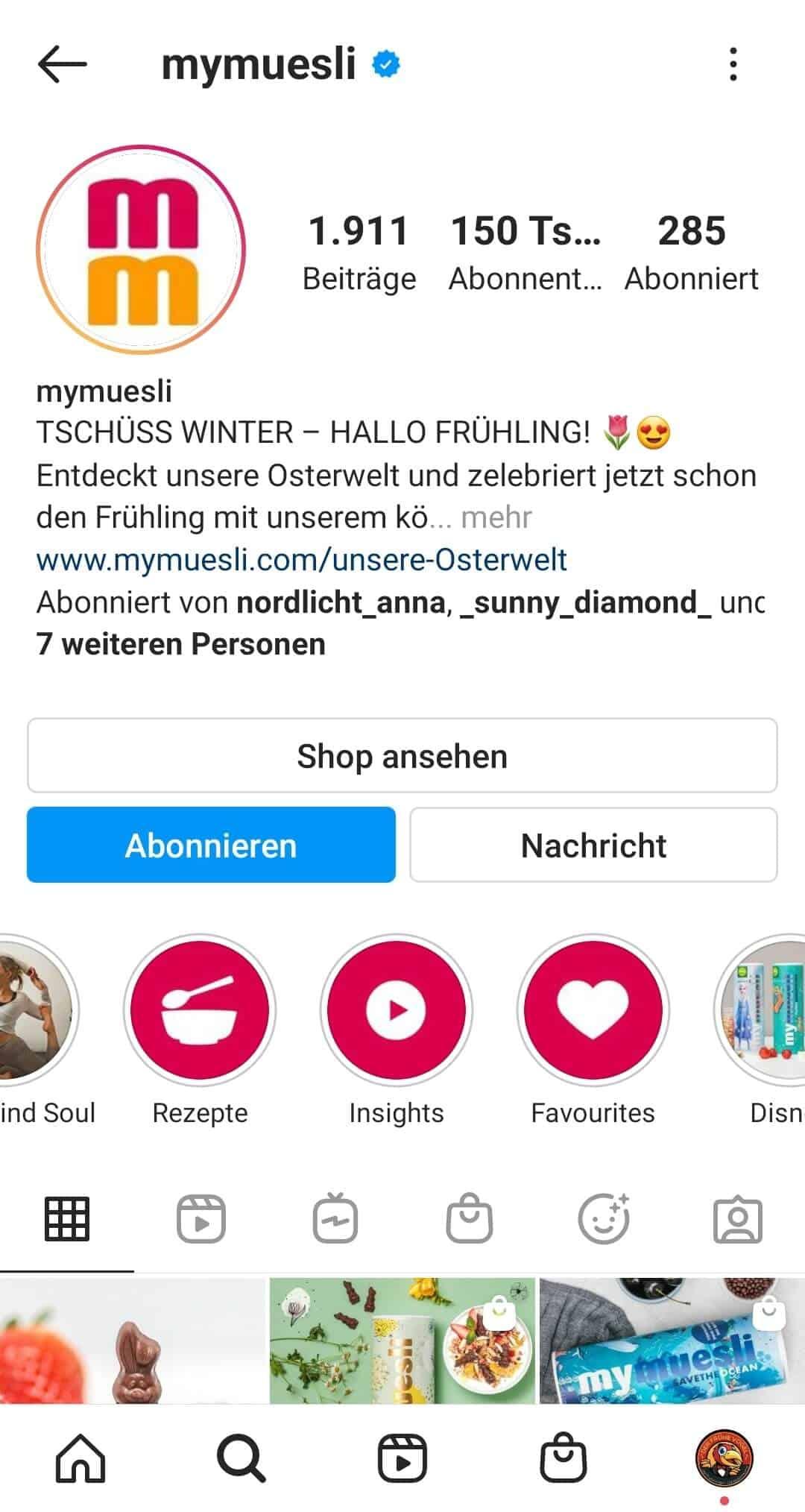 Instagram Story Highlights Cover erstellen Beispiel