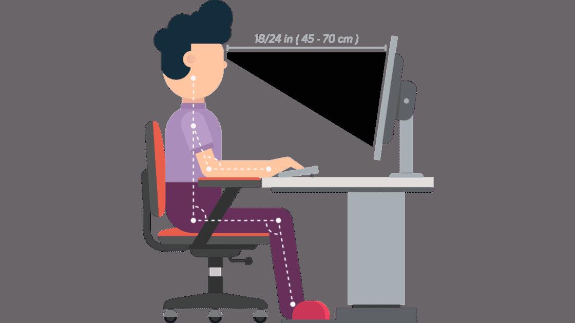 Ergonomisches sitzen und Arbeiten im Homeoffice
