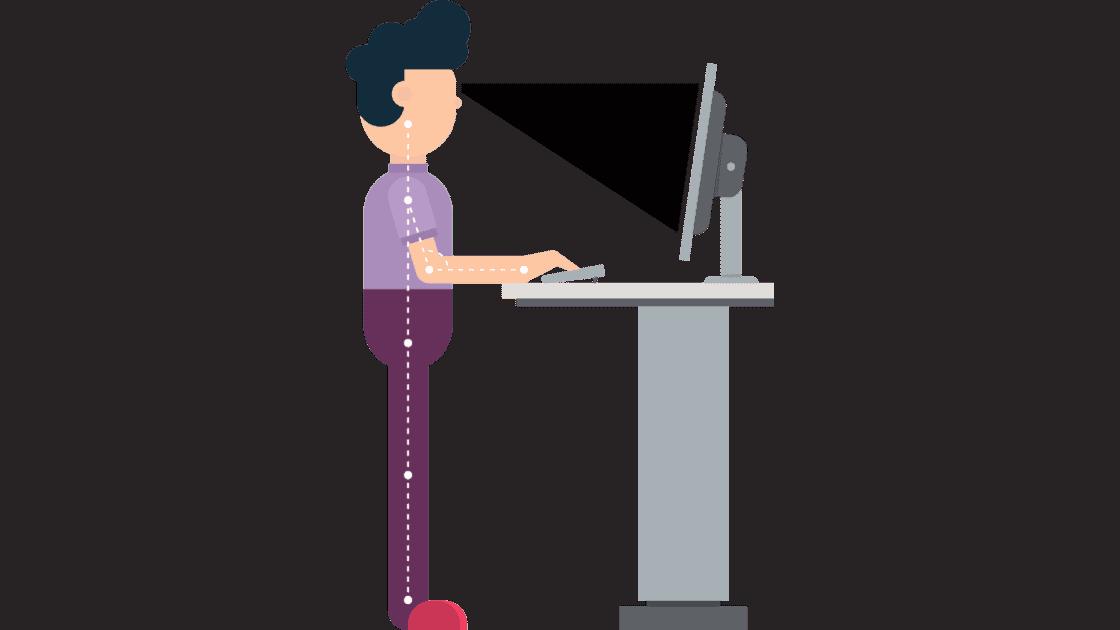 Homeoffice ergonomisch hönverstellbarer Schreibtisch
