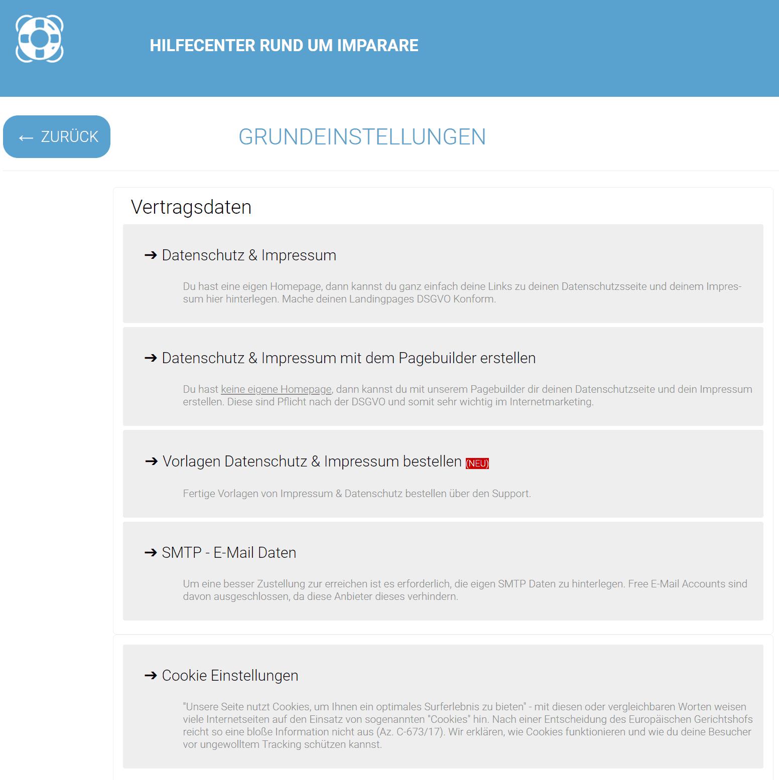 Imparare Hilfe Center