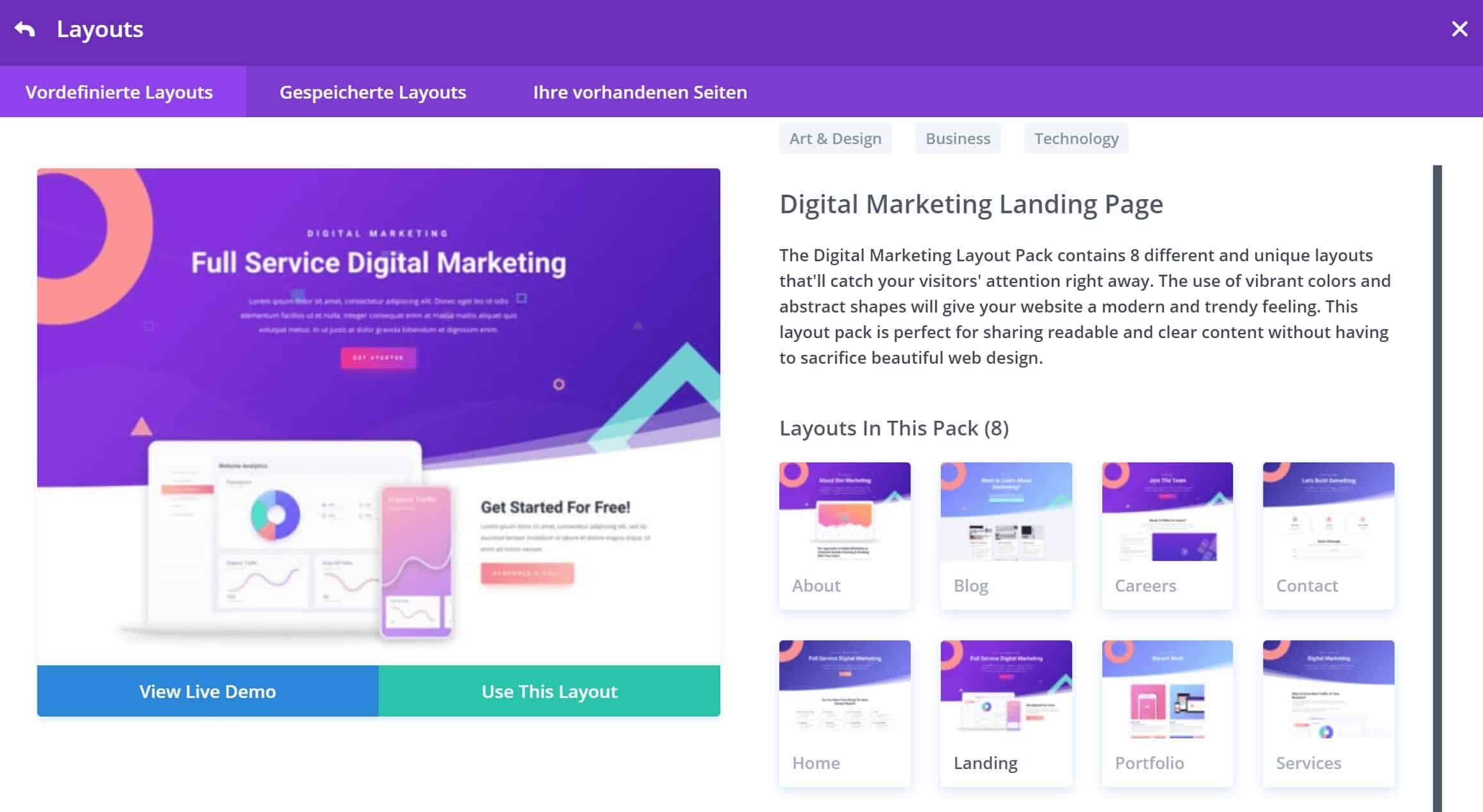 Divi Theme Layout Pack