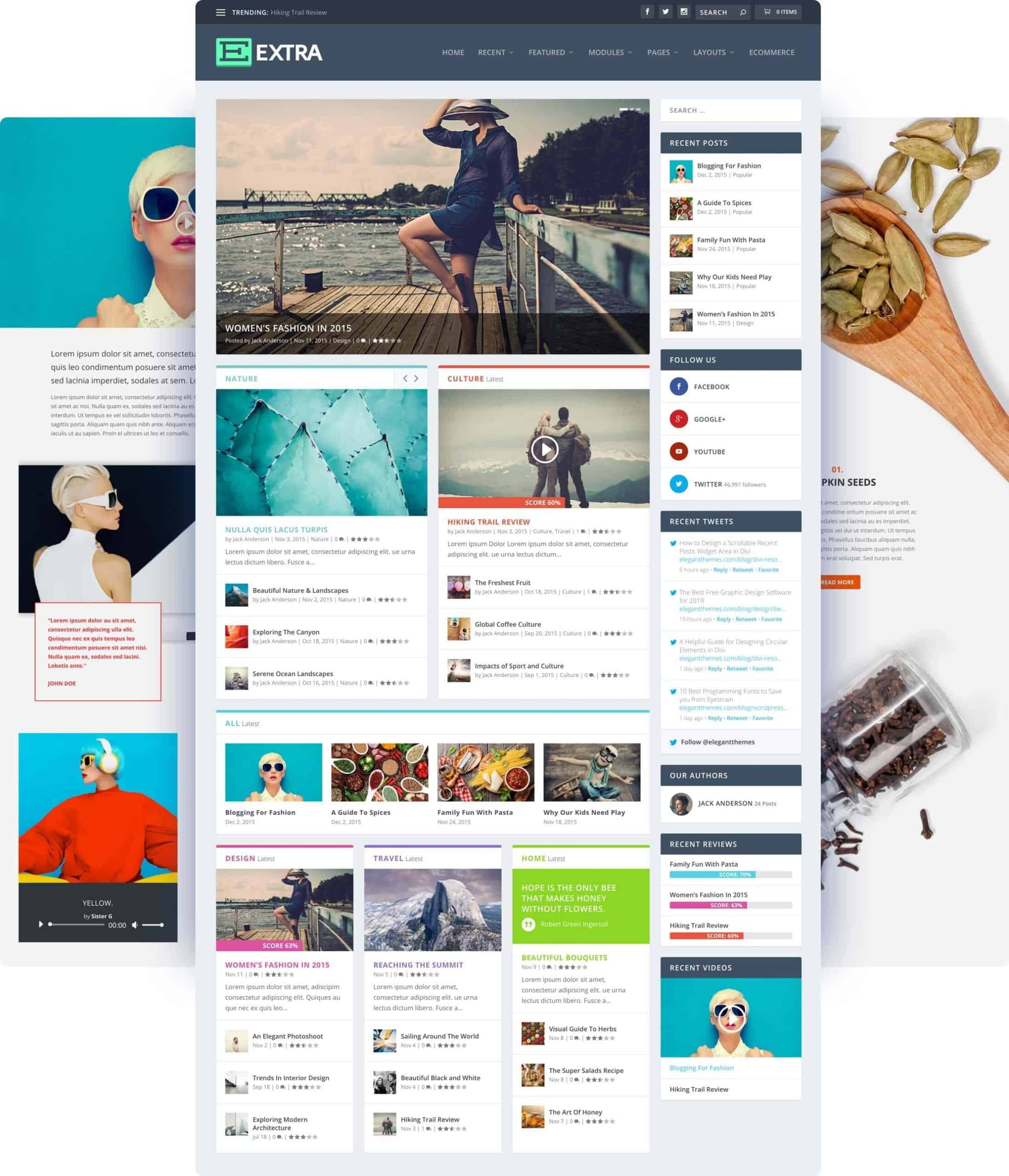 Extra WordPress Blog Theme