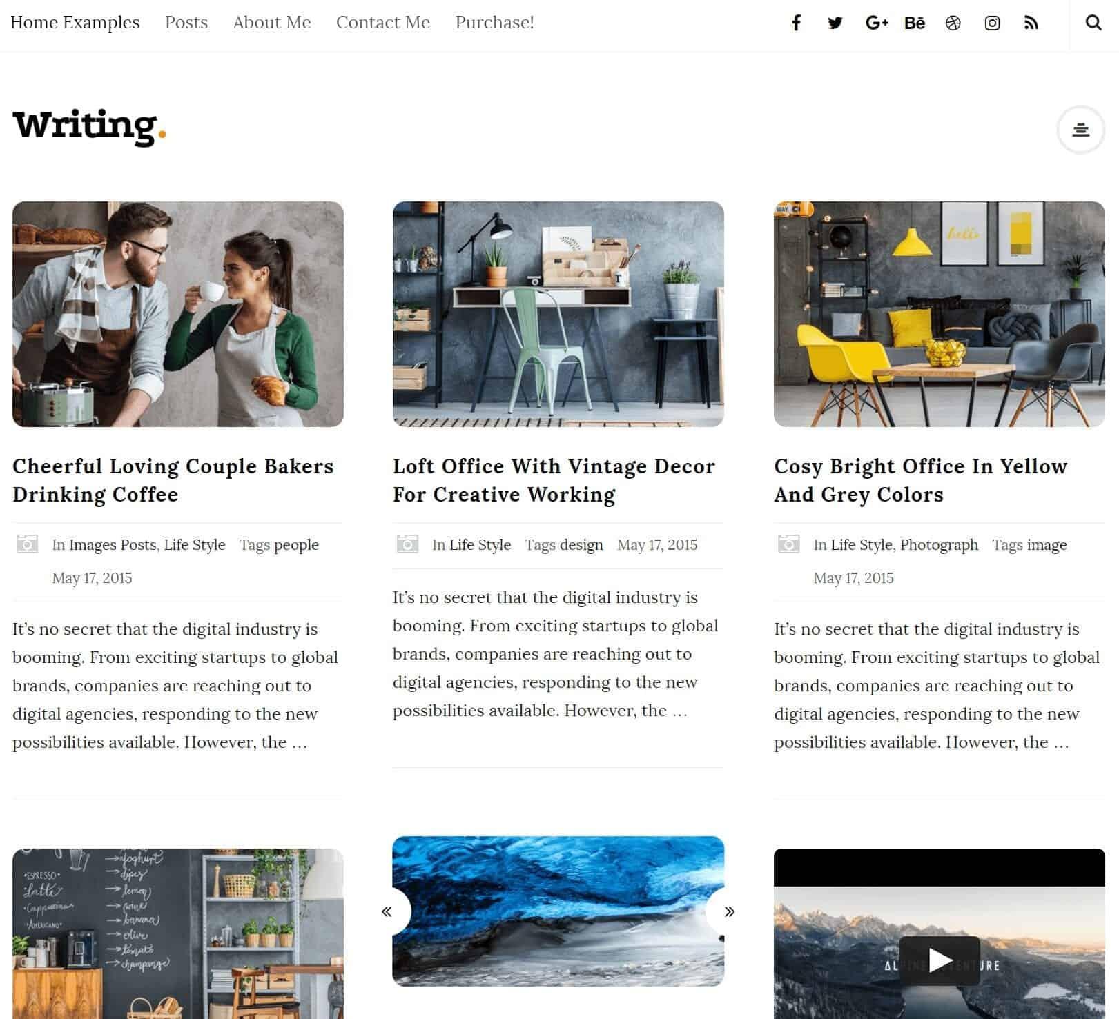 Writing WordPress Blog Theme