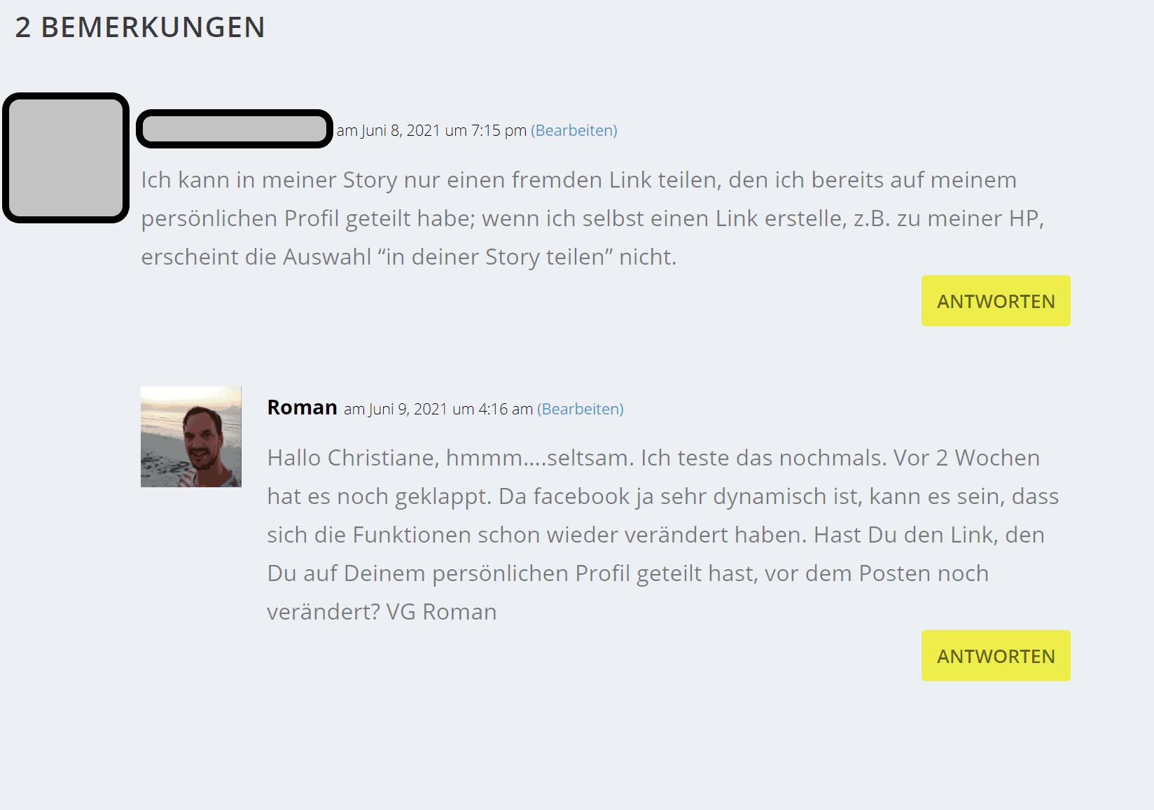 Beispiel Kommentar