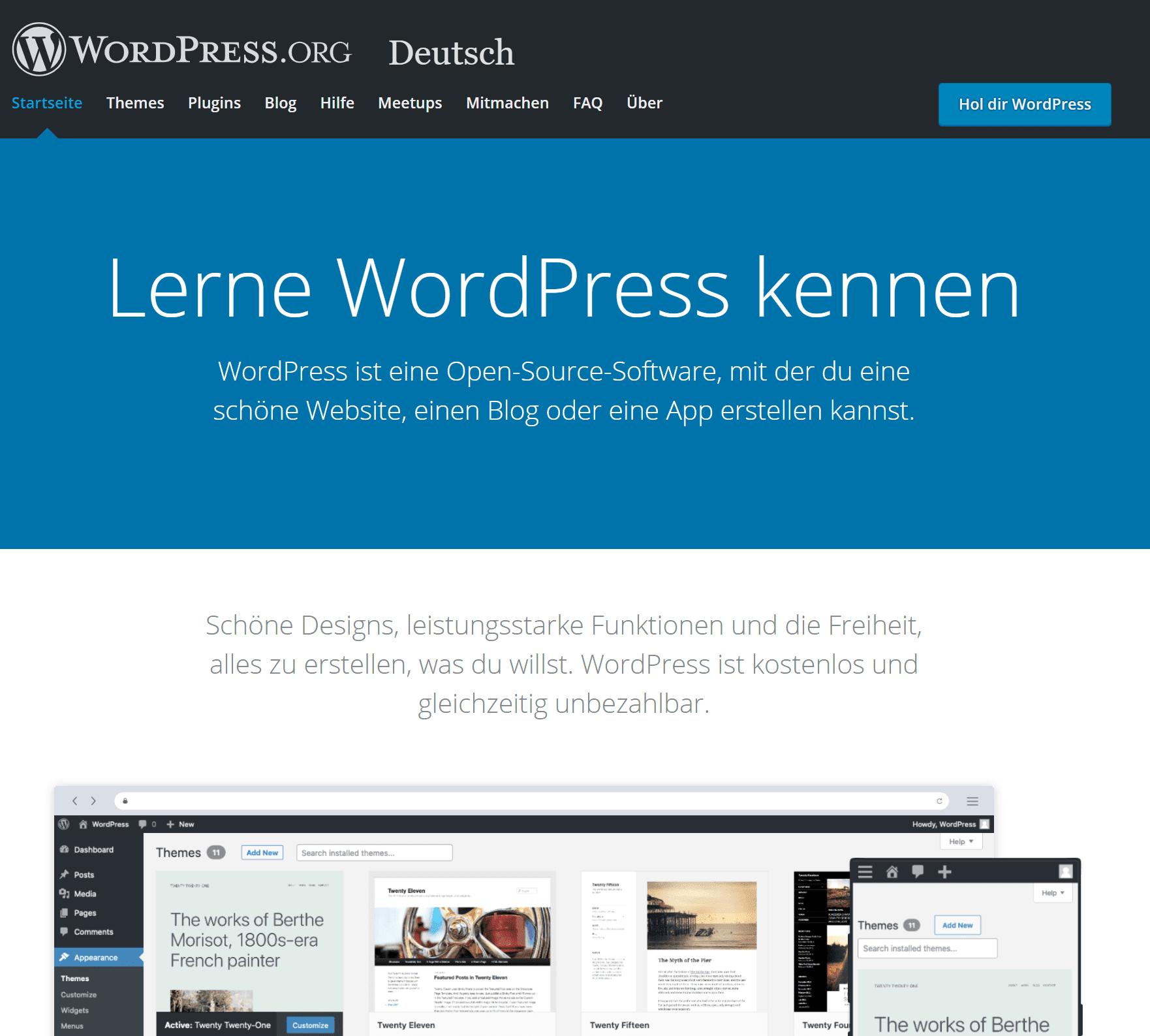 eigenen WordPress Blog Erstellen und starten