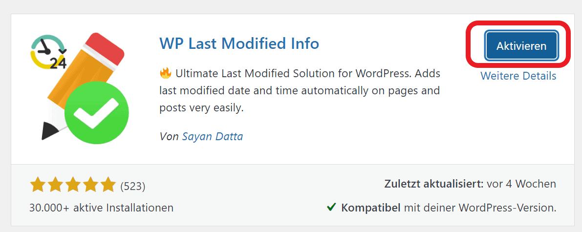WordPress Plugin installieren